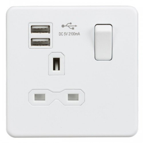 knightsbridge-sfr9901mw-screwless-matt-white-13a-1-gang-switched-socket-with-dual-usb-charger